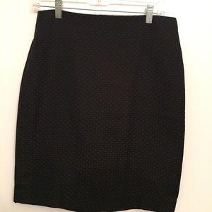Banana Republic Textured Pencil Skirt - Black